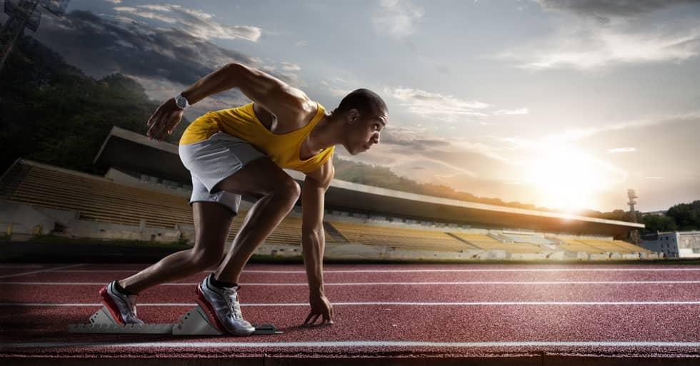 Atleta con determinación